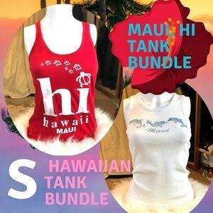 Tops - Maui, HI Hawaiian tank bundle! lot of 2 size XS/S